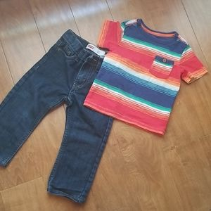 Boys jeans and shirt combo